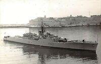"POSTCARD  SHIPS  HMS   ""  SCARBOROUGH   ""  - RP - VALETTA HARBOUR  - 1968"