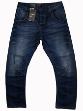 """COTTON ON """"Engineered Loose Fit"""" buttonfly slim straight denim jeans 32x30 NWT!"""