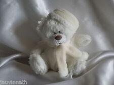 Doudou ours blanc, écharpe écru, Yves Rocher