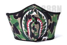 AW16 2016 New A Bathing Ape BAPE Green Camo Shark Face Mask Dust Mask