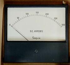 NOS Simpson 0-300 Amps Ammeter