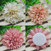 5pcs Frayed Chiffon Rose Flower Lace Trim Shabby Chic Bridal Wedding Dress DIY