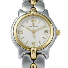Bertolucci Watch Stainless Steel and Yellow Gold Quartz Battery 34mm