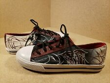 Walking Dead Painted Airwalk Canvas Shoes Mens Size 8 1/2 Black Daryl Dixon