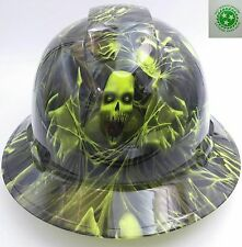 Customized Pyramex Full Brim 3D SKULL Hard Hat With Ratcheting Suspension