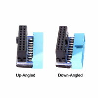 USB 3.0 20pin Male to Female Extension Data Adapter Up & Down Angled 90 Degree