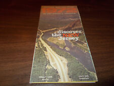 1972 New Jersey State-issued Vintage Road Map
