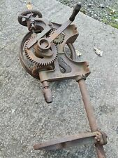 More details for old vintage cast iron pillar drill hand cranked for restoration or display pd 20