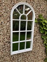 WINDOW STYLE MIRROR GIRLS  ARCH SOHO WINDOW MIRROR HALLWAY MIRROR 69cm-WHITE