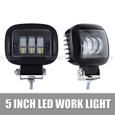 5 Inch 72W Square LED Work Lights Spot Driving Lamp For Off Road ATV Truck Boat