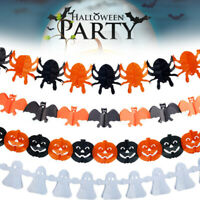 Halloween Banner Stylish Party Decoration Bunting Garland Pumpkins Costume Party