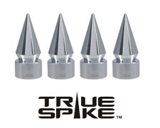 4 TRUE SPIKE CHROME SPIKED TPMS WHEEL AIR VALVE STEM COVER CAP FOR GMC SIERRA B