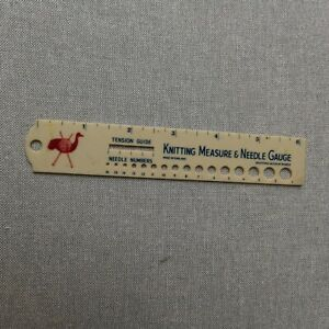 Vintage Emu Knitting needle size gauge