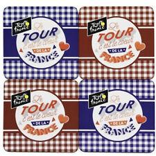 4 sous verres COEUR - TOUR DE FRANCE