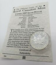 1997 1oz Canadian Maple Leaf Proof Fine Silver Bullion Coin LOWEST MINTAGE YEAR