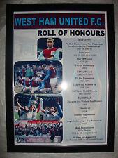 West Ham United Club Historia Rollo de honores-enmarcado impresión