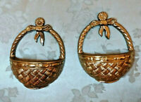 Small Wintage Burwood Gold Basket Wall Hanging Set # 2828