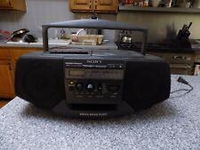 Sony CFD-V15 MEGA BASS Boombox AM FM Radio Cassette Tape CD Player