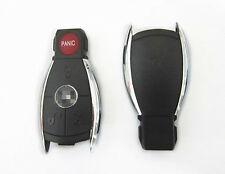 Chrome Smart Key Remote Keyless Blank Shell Case Pad Cover For Mercedes Benz 4BT