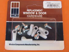 Mobile Home RV Camper Trailer White 6ct Screen Storm Window Clips Inc Screws
