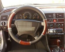 Lenkrad Bezug Holz Optik 6 Chromringe von Richter für Mercedes Modelle