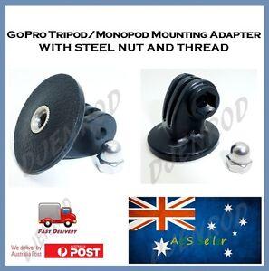 GoPro Hero 3+ / 3 Tripod / Monopod Mounting Adapter for Go Pro Hero3, 2 & 1 HD