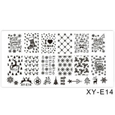 Nail Art Stamping Plates Image Plate Christmas Snowflakes Reindeers Trees XYE14