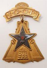 Rare Vintage Independent Order of Odd Fellows Gold GF Enamel Badge
