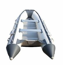 8.9 ft Inflatable Boat Inflatable Dinghy Boat Yacht Tender Fishing Raft Gray