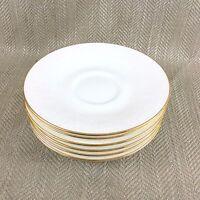 Royal Albert Cina Daybreak Piattini Porcellana Bianco Finiture Oro Goffrato