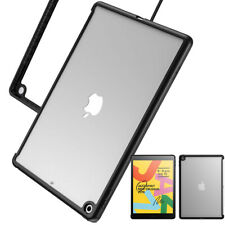 For iPad 10.2 2019 Tablet Case,Clear Scratch Resistant PC Hard Back Cover Black