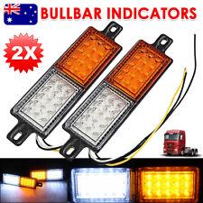 2x 30 LED Bullbar Indicator Lights Front Park DRL Amber For ARB TJM Marker Lamp