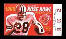 >orig. 1968 ROSE BOWL **Ticket Stub** INDIANA HOOSIERS v USC TROJANS