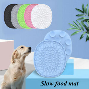 Pet Dog Silicone Licking Plate Slow Food Mat Puppy Training Feeder Pad Supplies