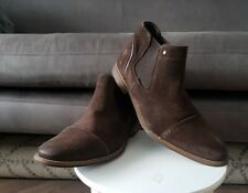 Mens DUNE CHILI Brown Suede Chelsea Boots, Size 9, NEW, RRP £120