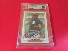 Luis Severino Yankees 2014 Bowman Chrome Rookie Signed Auto Beckett BAS Slabbed