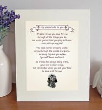 "English Setter 10"" x 8"" Free Standing 'Thank You' Poem Fun Gift FROM THE DOG"