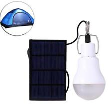 1x S-1200 15W 130LM Portable Led Bulb Light Charged Solar Energy Lamp Camping BR
