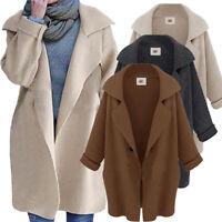 Women Oversized Jacket Long Sleeve Knitted Sweater Jumper Cardigan Outwear Coat