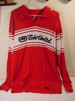 ECKO UNLTD LONG SLEEVE POLO COLLARED SHIRT RED & WHITE - MEN'S SIZE XL