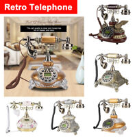 Vintage Home Corded Office Telephone Retro Phone Caller ID Landline Answer Set