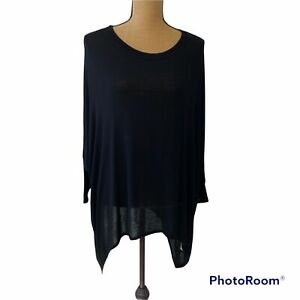Women's Nally and Millie Black Long Sleeve Top One Size