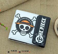 Japan Anime One Piece Luffy Straw Hat Pirates Cosplay Leather Wallet Purse