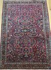 ANTIQUE FLORAL SAROUKK HAND KNOTTED WOOL ORIENTAL RUG HAND-WASHED  3.5 x 5
