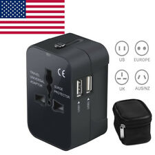 International USB Wall Travel Adapter Universal Power with Protector Charger USA