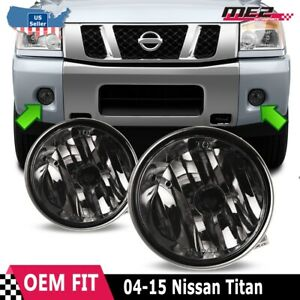 For Nissan Titan 04-14 Factory Bumper Replacement Fit Fog Lights  Smoke Lens