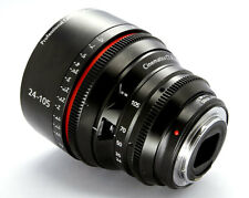 Customized Cine lens Canon 24-105mm f4 auto focus iris for BMCC BMPCC CANON 5D