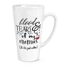 SANG ET LARMES DE MON ennemies café 483ml Grand Latte Tasse -