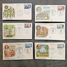 FRANCE FDC Lot 6 Enveloppes Célébrités Françaises 1970 1er Jour - Timbres Poste