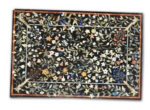 "48"" x 32"" Marble Table Top Handmade marquetry handmade Pietra dura Inlay Art"